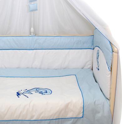 Комплект в кроватку Bombus Дельфинчик 7 (голубой) - общий вид