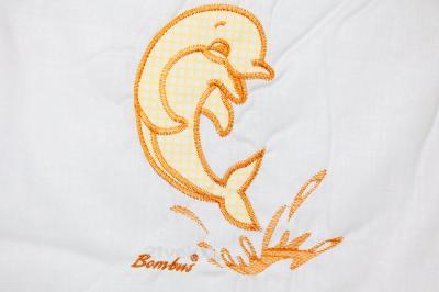 Комплект в кроватку Bombus Дельфинчик 7 (бежевый) - вышивка
