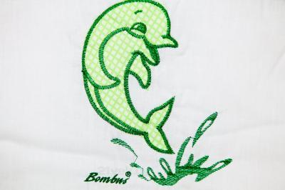Комплект в кроватку Bombus Дельфинчик 7 (салатовый) - вышивка