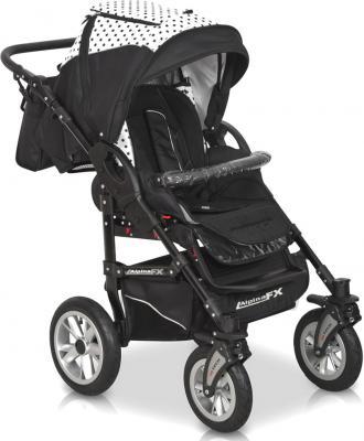 Детская универсальная коляска Riko Alpina FX 2 в 1 (Lila) - прогулочная (цвет 09 Black & White)