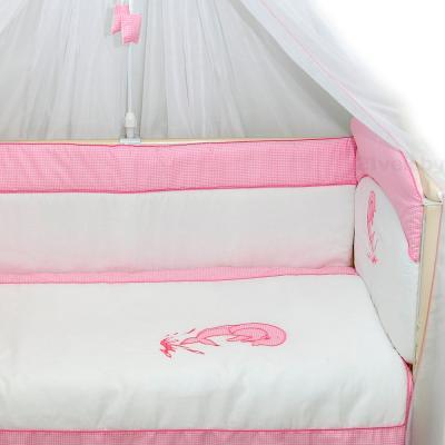 Комплект в кроватку Bombus Дельфинчик 7 (розовый) - общий вид