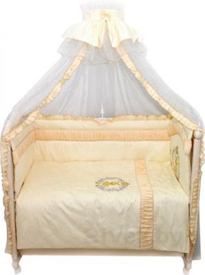 Комплект в кроватку Bombus Королевский 8 (бежевый) - общий вид