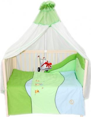 Комплект в кроватку Bombus Кря-кря 7 (салатовый) - общий вид