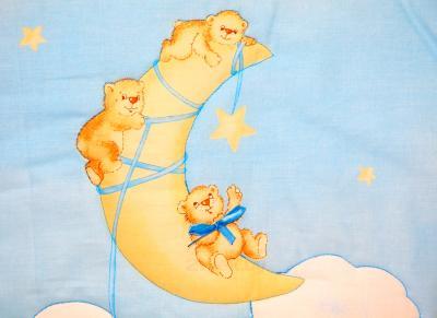 Комплект в кроватку Bombus Лунный мишка 7 (голубой) - рисунок
