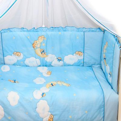 Комплект в кроватку Bombus Лунный мишка 7 (голубой) - общий вид