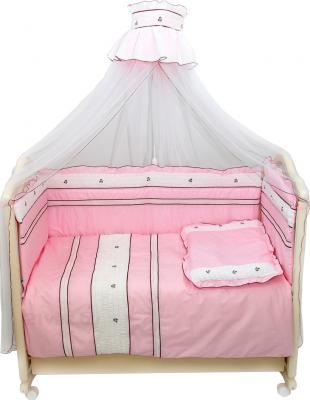Комплект в кроватку Bombus Любавушка 7 (розовый) - общий вид