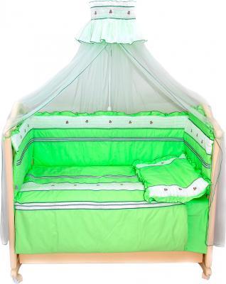 Комплект в кроватку Bombus Любавушка 7 (салатовый) - общий вид