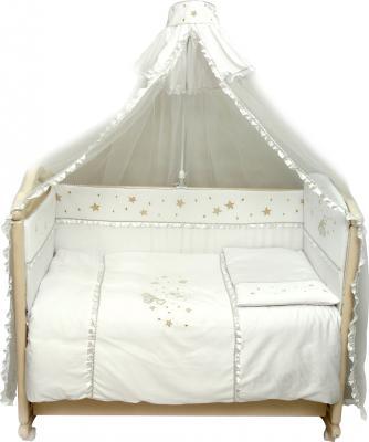 Комплект в кроватку Bombus Малышок 7 (белый) - общий вид