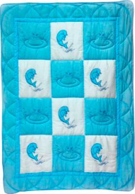 Одеяло для новорожденного Bombus Баю Бай (голубое) - общий вид