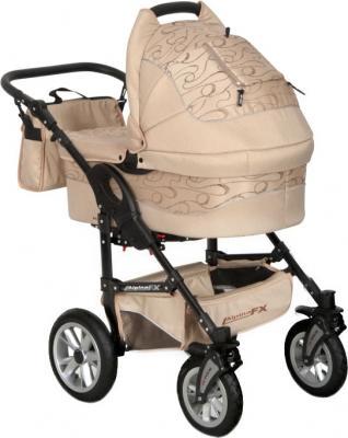 Детская универсальная коляска Riko Alpina FX 2 в 1 (Cafe Latte) - общий вид