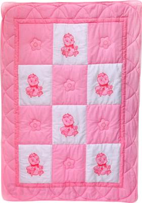 Одеяло для новорожденного Bombus Баю Бай (розовое) - общий вид