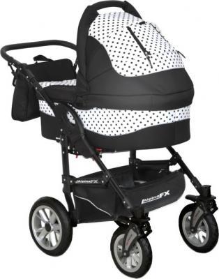 Детская универсальная коляска Riko Alpina FX 2 в 1 (Black-White) - общий вид