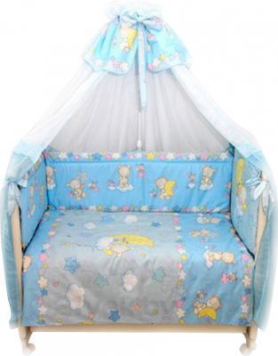 Комплект в кроватку Bombus Павлуша 8 (голубой) - общий вид