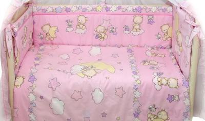Комплект в кроватку Bombus Павлуша 8 (розовый) - общий вид