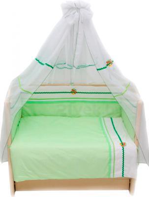 Комплект в кроватку Bombus Пиратик 7 (салатовый) - общий вид