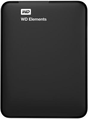 Внешний жесткий диск Western Digital Elements Portable 1TB (WDBUZG0010BBK) - фронтальный вид