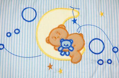 Комплект в кроватку Bombus Соня 6 (голубой) - аппликация
