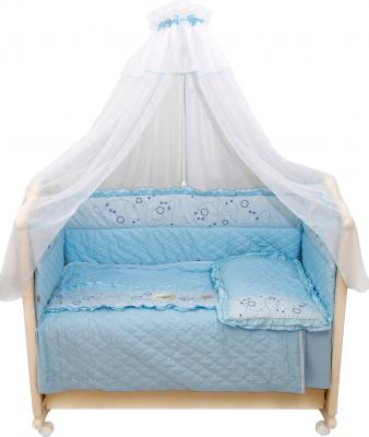 Комплект в кроватку Bombus Соня 6 (голубой) - общий вид