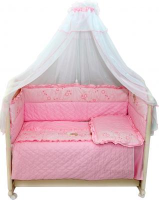 Комплект в кроватку Bombus Соня 6 (розовый) - общий вид