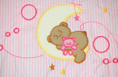 Комплект в кроватку Bombus Соня 6 (розовый) - аппликация