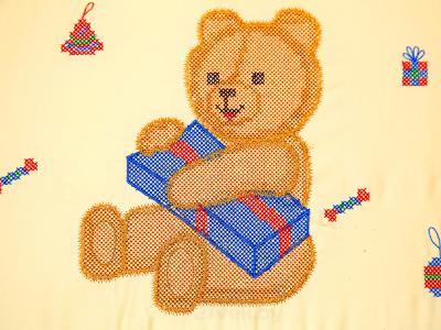 Комплект в кроватку Bombus Топтыжкина радость 7 (бежевый) - вышивка