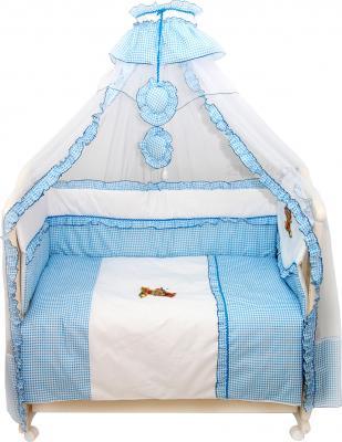Комплект в кроватку Bombus Юленька 7 (голубой) - общий вид