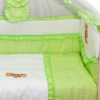 Комплект в кроватку Bombus Юленька 7 (салатовый) - общий вид