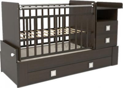Детская кровать-трансформер СКВ 830038 (Венге) - общий вид