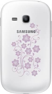 Смартфон Samsung S6790 Galaxy Fame Lite La Fleur (белый) - задняя панель