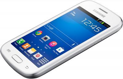 Смартфон Samsung Galaxy Trend Lite / S7390 (белый) - вид лежа