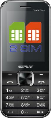 Мобильный телефон Explay Power Bank (Black) - общий вид