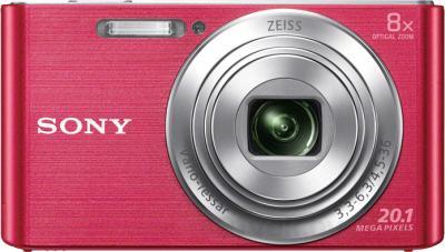 Компактный фотоаппарат Sony Cyber-shot DSC-W830 (розовый) - вид спереди