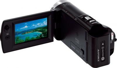 Видеокамера Sony HDR-CX330E (Black) - вид сзади