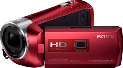 Видеокамера Sony HDR-PJ240E (красный) - общий вид