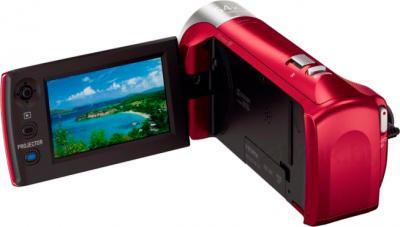 Видеокамера Sony HDR-PJ240E (красный) - вид сзади