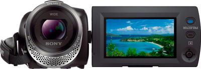 Видеокамера Sony HDR-PJ330E (Black) - фронтальный вид