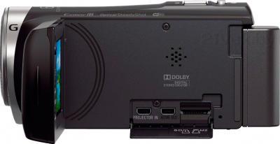 Видеокамера Sony HDR-PJ330E (Black) - вид сбоку