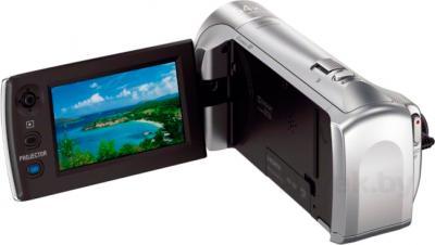 Видеокамера Sony HDR-PJ240E (серебристый) - вид сзади