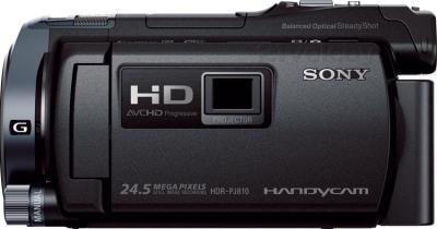 Видеокамера Sony HDR-PJ810E (черный) - вид сбоку