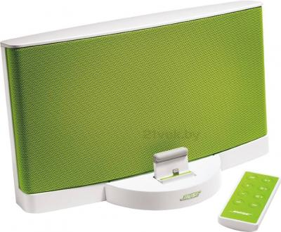 Мультимедийная док-станция Bose SoundDock III Digital Music System (White-Green) - вид сбоку