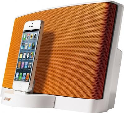Мультимедийная док-станция Bose SoundDock III Digital Music System (White-Orange) - вид сбоку