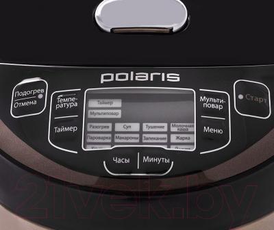 Мультиварка Polaris PMC 0514AD (черно-коричневый) - панель