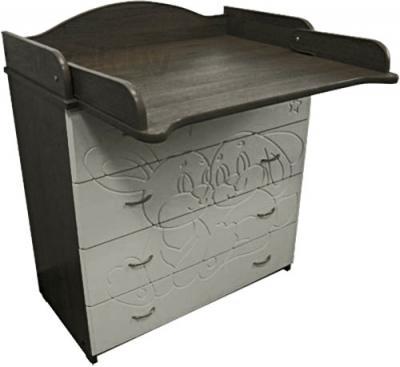 Комод Алмаз-Мебель Зайка-2 (Венге-Ваниль) - столик для пеленания