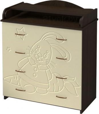 Комод Алмаз-Мебель Зайка-1 (Венге-Ваниль) - общий вид
