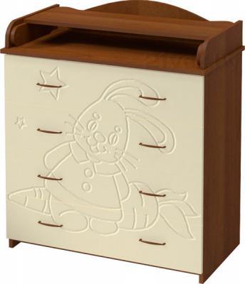 Комод Алмаз-Мебель Зайка-1 (Орех-Ваниль) - общий вид