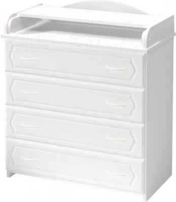 Комод Алмаз-Мебель КП-2 (Белый) - общий вид