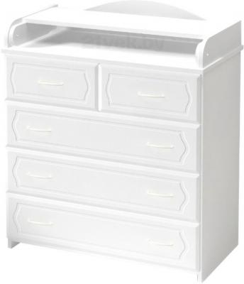 Комод Алмаз-Мебель КП-2.5 (Белый) - общий вид