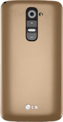 Смартфон LG G2 16Gb / D802 (золотой) - задняя панель