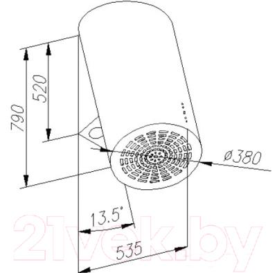 Вытяжка коробчатая Ciarko OR P 38 (нержавеющая сталь)