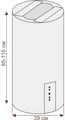 Вытяжка коробчатая Ciarko ORW (белое стекло)
